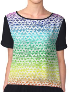 mosaic stripes Women's Chiffon Top
