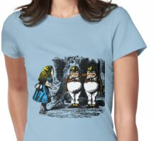 Tweedle Dee & Dum Womens Fitted T-Shirt