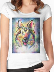 Boho Collie Women's Fitted Scoop T-Shirt
