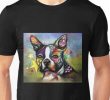 Boho Boston Terrier Unisex T-Shirt