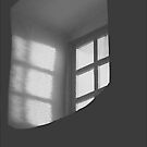 Mission Window in Black and White by John Butler