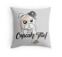 cupcake thief Throw Pillow