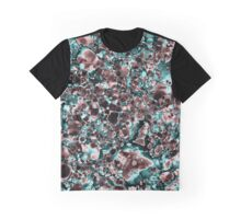 Teal and Coral Abstract Graphic T-Shirt