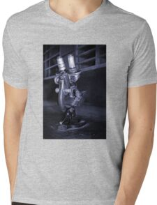 Old Microscope Mens V-Neck T-Shirt