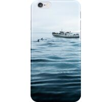 Dolphins in open sea iPhone Case/Skin