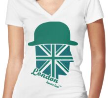 London Gentleman by Francisco Evans ™ Women's Fitted V-Neck T-Shirt