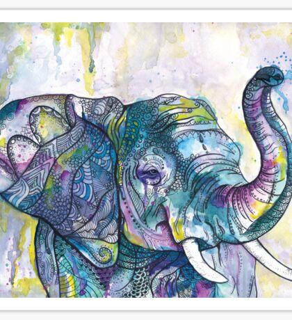 African Elephant Dancer  Sticker