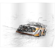 Rally Car Illustration Poster