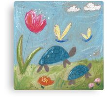 On our way to the pond. Canvas Print