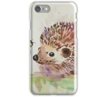 Hedgehog and Bumble bee  iPhone Case/Skin