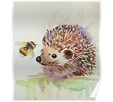 Hedgehog and Bumble bee  Poster