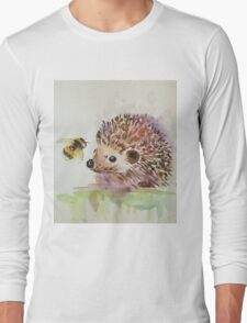 Hedgehog and Bumble bee  Long Sleeve T-Shirt