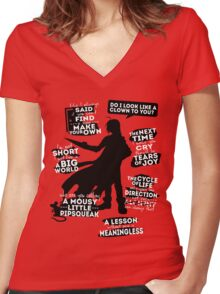 Edward Elric Quotes Women's Fitted V-Neck T-Shirt