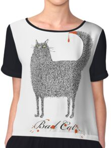 Bad Cat Chiffon Top