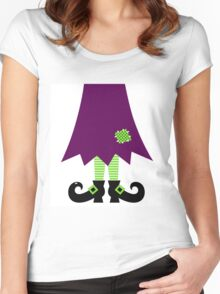 Vector - Stylized retro Witch legs Women's Fitted Scoop T-Shirt