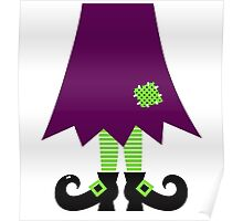 Vector - Stylized retro Witch legs Poster