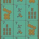 Lucky Sevens in Teal Leopard Design #13 by Susan Werby