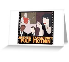 pulp fiction poster Greeting Card