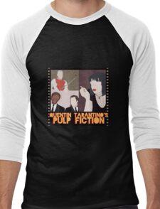 Pulp Fiction Poster Men's Baseball ¾ T-Shirt