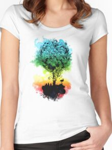 magical tree Women's Fitted Scoop T-Shirt
