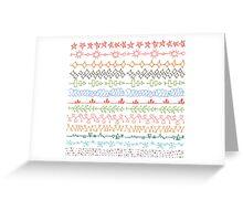 Grundge DIY stripses pattern Greeting Card