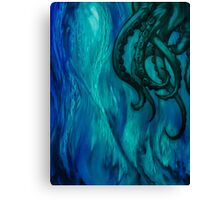 Cthulhu Dreaming in Blue Canvas Print