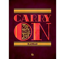 Kansas Carry On My Wayward Son Photographic Print