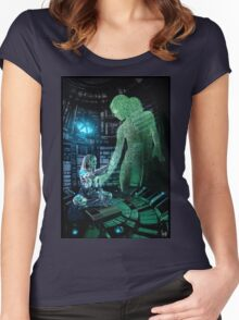 Cyberpunk Painting 073 Women's Fitted Scoop T-Shirt