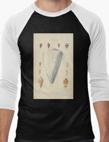 Thesaurus conchyliorum Monographs of genera of shells George Brettingham Sowerby 1887 V1-V5 278 Men's Baseball ¾ T-Shirt