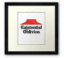 Existential Oblivion T-Shirt Framed Print