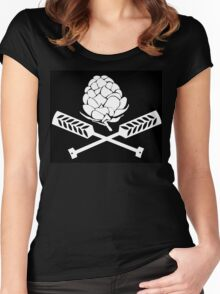 Hops Pirate Flag Women's Fitted Scoop T-Shirt