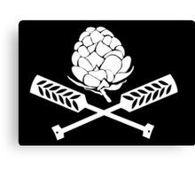 Hops Pirate Flag Canvas Print