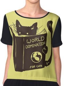 World Domination For Cats Chiffon Top