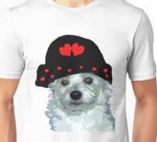 dog with a heart cap Unisex T-Shirt