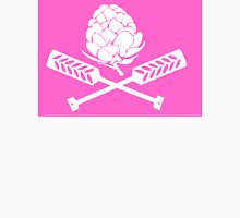 Hops Pirate Flag (Pink) Womens Fitted T-Shirt