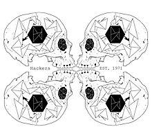 Hackers Skull Photographic Print