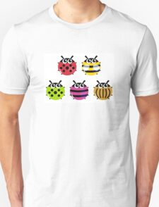 Various bugs collection. Vector cartoon Illustration Unisex T-Shirt