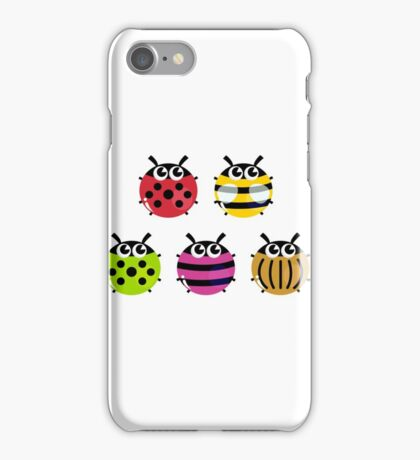 Various bugs collection. Vector cartoon Illustration iPhone Case/Skin