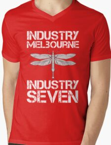 Industry Seven Syringefly Melbourne Mens V-Neck T-Shirt