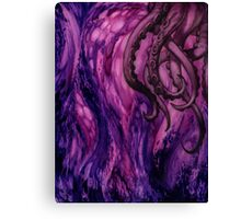 Cthulhu Dreaming in Purple Canvas Print