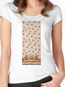 HONEY BEES AND BEE HIVES ,BEEKEEPER Women's Fitted Scoop T-Shirt
