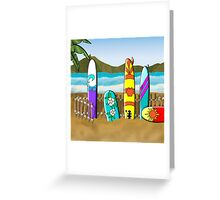 Boards at the Beach Greeting Card