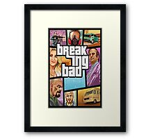 Grand theft auto breaking bad walter white jesse pinkman Framed Print