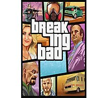 Grand theft auto breaking bad walter white jesse pinkman Photographic Print