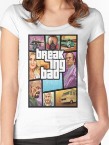 Grand theft auto breaking bad walter white jesse pinkman Women's Fitted Scoop T-Shirt