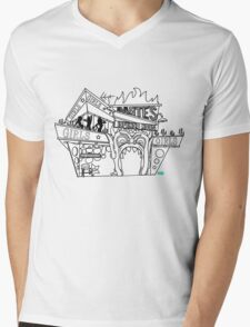 Adam why did you build that? Mens V-Neck T-Shirt