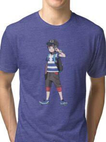 Pokémon Sun and Pokémon Moon - Trainer (Male) Tri-blend T-Shirt