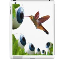 Surreal Hummingbird with eyeballs iPad Case/Skin