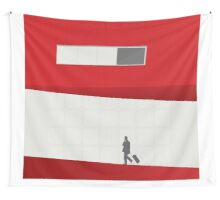 Funky Little Red Building Wall Tapestry