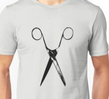 Scissors - black Unisex T-Shirt
